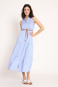 Φόρεμα μακρύ καρό