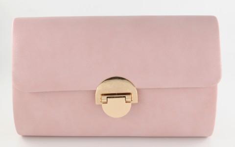 Τσαντάκι ροζ glitter