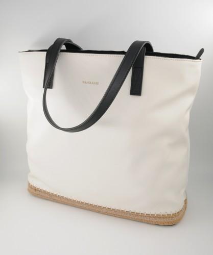 Τσάντα ώμου με ψάθα
